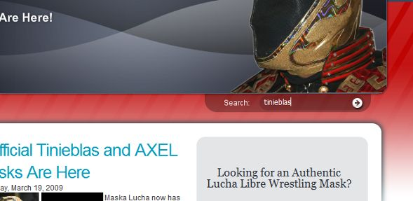New Maska Lucha site