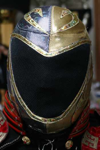 Tinieblas Pro-Grade Silver and Gold Mask - Official Product