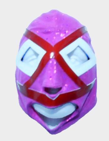 Villano III Mask - Pink with Red and White