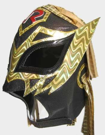 Volador Jr Mask - Black and Gold